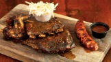 Ribs and andouille sausage