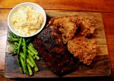 Chicken and ribs plate