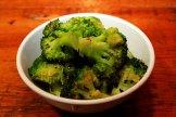Broccoli with garlic and chili flakes